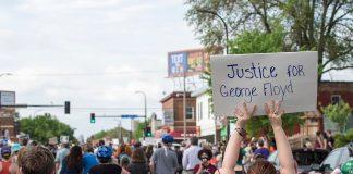 George Floyd Protest in south Minneapolis. Photo credit: Fibonacci Blue.